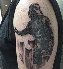 darth vader tattoo by Wes Fortier at Burning Hearts Tattoo Co. - Waterbury, CT