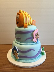 Bubble Guppies Birthday Cake (dms81) Tags: ocean blue bubble mermaid guppy fondant gumpaste mmf cakebirthday bubbleguppies