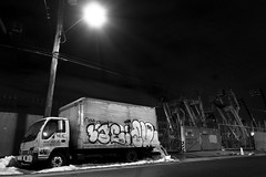 Lae and Such (mike ion) Tags: nyc newyorkcity ny newyork brooklyn truck graffiti nightshot such throw fill lae