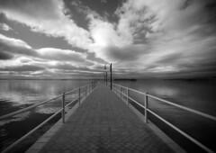 Pontile sul Trasimeno (s.galli79) Tags: sky white black lago nuvole trasimeno pontile