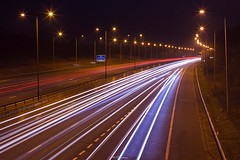 M1 Motorway (LFaurePhotos) Tags: life road longexposure urban signs london night motorway m1 outdoor vehicles lamppost freeway lighttrails afterdark a41 stanmore northwestlondon brockleyhill londonboroughofbarnet