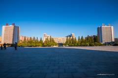 North Korean Government Buildinga (reubenteo) Tags: city democracy scenery war communist communism kimjongil socialist metropolis socialism northkorea pyongyang dprk reunification kimilsung kimjongun