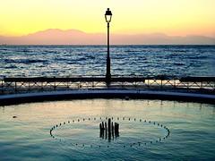 Windy sunset. (Christos Andreou) Tags: twilight mediterranean waves wind ngc relaxing coastline melancholy winterlandscape nightwalking sealandscape seasunset hdrphotos nearbythesea opticalzoomphotos