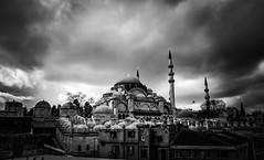 Suleymaniye Mosque / ISTANBUL (oguz.unver) Tags: architecture turkey blackwhite culture istanbul ottomans suleymaniyemosques