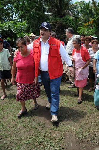 Recorre Javier Duarte zonas afectadas 3