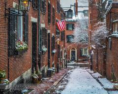 Acorn Street, Boston (betty wiley) Tags: street winter snow storm boston seasons massachusetts newengland neighborhood beaconhill beantown acornstreet bettywileyphotography