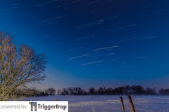 Star Trails 6 March 2016 (photothiel) Tags: morning winter snow stars star airport ottawa trails stacking yow triggertrap