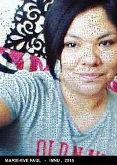 Le selfie de Marie-Eve Paul de Mashteuiatsh recomposée avec les images de Wapikoni mobile : ashu-takusseu.com