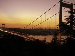 FSM Bridge, Istanbul (Senol Demir) Tags: travel bridge sunset turkey outdoor ngc trkiye istanbul bosphorus boazii kpr boaz gezi gnbatm fsmkprs fsmbridge concordians