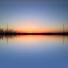 Serene Reflections (Scorpiol13) Tags: sunset reflection water beauty skyline reeds outdoors weeds solitude horizon tranquility calm silence serenity serene placid wetland
