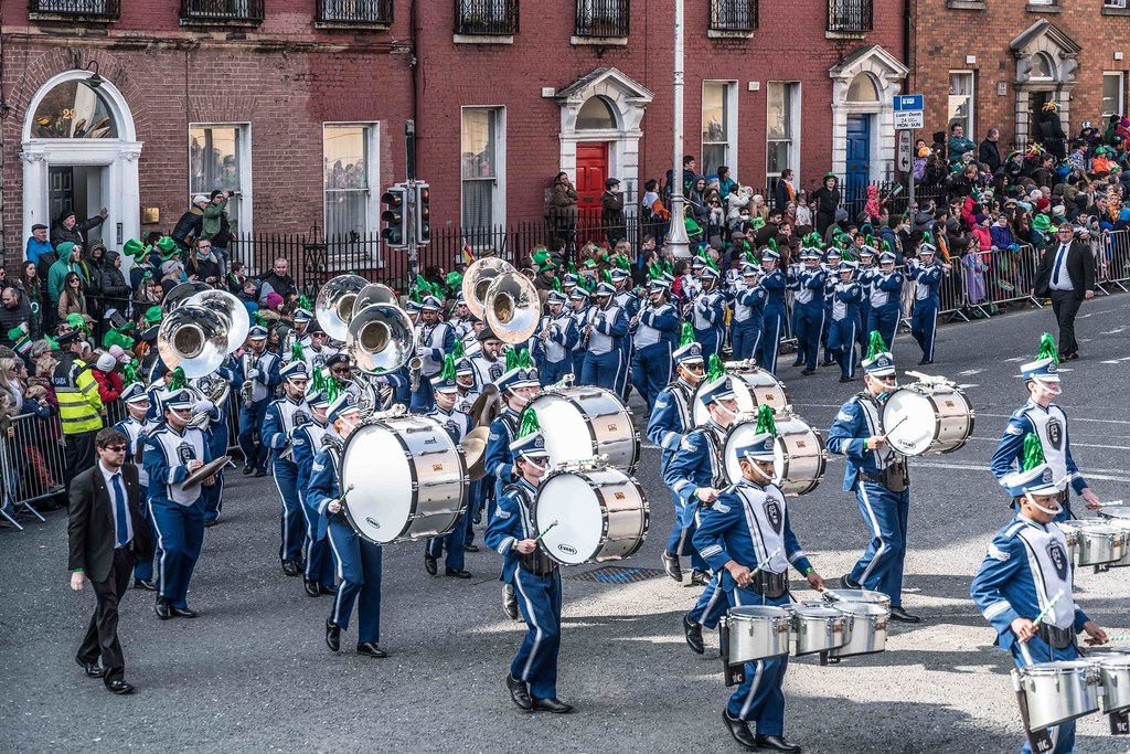 THE OLD DOMINION UNIVERSITY MONARCH MARCHING BAND [ST. PATRICK'S PARADE 2016]-112634