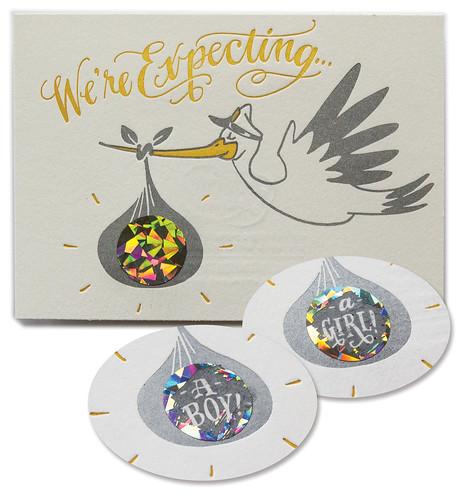 Baby Winner — Ladyfingers Letterpress, Scratch-Off Stork Surprise!