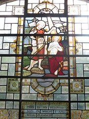 Hampstead Parish Church: stained glass window (John Steedman) Tags: uk greatbritain england london window unitedkingdom stainedglass hampstead stainedglasswindow stjohntheevangelist grossbritannien     grandebretagne stjohnathampstead