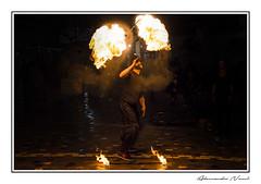 Fire! (Alessandro Nenci) Tags: street night canon greek fire strada artist streetphotography athens greece grecia di notte fuoco athina artista mangiafuoco monastiraki atene