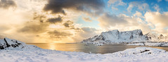 Midday Light (Mark McLeod 80) Tags: winter snow mountains ice water norway pano arctic lofoten lofotenislands hamny markmcleod lee09softgrad sigma24105mmf4dgosart markmcleodphotography