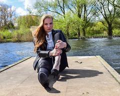 Kim Lobbezoo 9 (M van Oosterhout) Tags: portrait people woman sun lake holland cute netherlands girl beautiful face fashion female clouds model pretty photoshoot modeling stunning editorial