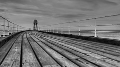 Whitby Floorboards (Delta Skies) Tags: wood west monochrome mono coast pier yorkshire whitby noth