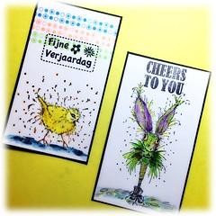 (Stampinkie) Tags: verjaardag handmade happybirthday birthdaycard rubberstamping jarig handmadecard stampotique