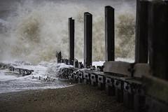 Katie's Revenge (SimonTHGolfer) Tags: england storm beach water weather coast suffolk sand nikon waves wind katie pebbles coastal d750 coastline splash groyne aldeburgh f28 eastanglia eastcoast breakwater ferocious 70200mm slaughden lowpressure simontalbothurnphotography stormkatie