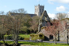 Priory in the Background (karenmarquick) Tags: christchurch church landscape spring dorset april priory