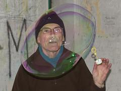 Bubble man (Michal Hajek) Tags: brno bubble czechrepublic nikkor kurim d5500 babilom 18140mm