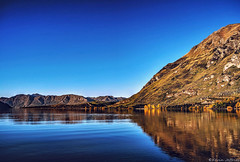 Clear blue at Glendhu (Kevin_Jeffries) Tags: blue autumn sky mountain lake reflection tree nature landscape bay interesting nikon flickr deep tranquility wideangle calm clear serene wanaka tranquil 18mm d90 flickrtoday glendhu glendhubay queenstownlakesdistrict kevinjeffries