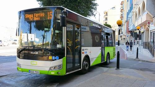 Public Transport Malta (PTM) bus