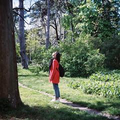Looking for (Eugene Woronyuk) Tags: park travel trees tree film girl garden landscape spring kodak odessa ukraine april analogue 120mm kodakportra400 kodakportra filmphoto filmnotdead 120