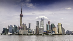 Pudong, Shanghai, China (Alex Grgoire-Denicourt Photography) Tags: china city river giant asia skyscrapers shanghai pudong