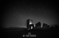 #234 of 365 - haunted - 050416 (Emily_Endean_Photography) Tags: old uk nightphotography england sky english heritage church night vintage stars nikon ruins nightscape wideangle haunted dorset nightsky atmospheric knowlton