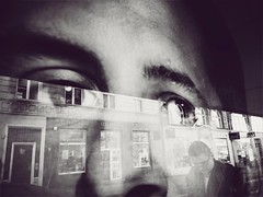 Vapid (ewitsoe) Tags: street city urban blackandwhite eye monochrome station mobile mono spring streetphotography samsung tram poland wait passing colorless pozna eyeseeyou ewitsoe