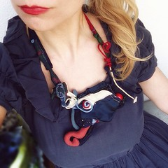 'Blue moon' ~ storytelling necklace~ (maslikarija) Tags: blue love flying necklace secret believe wish bluemoon artjewelry contemporaryjewellery jewellerydesign dreamfairy erasedreams
