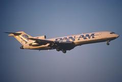 Pan Am Boeing 727-235; N4734, August 1987 (Aero Icarus) Tags: plane aircraft flugzeug panam avion slidescan trijet boeing727 n4734