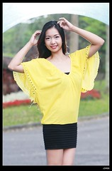 nEO_IMG_DP1U3252 (c0466art) Tags: blue light portrait color girl beautiful yellow canon pose action sweet outdoor gorgeous jenny pipe skirt short lovely charming elegant philippine 1dx c0466art