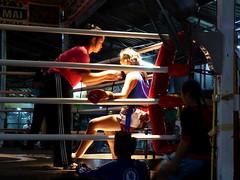Chiang Mai (Muay Thai Boxing), Thailand (Jan-2016) 10-009 (MistyTree Adventures) Tags: thailand women asia seasia indoor massage chiangmai boxing preparation muaythai thaiboxing boxingring panasoniclumix thapaeboxingstadium