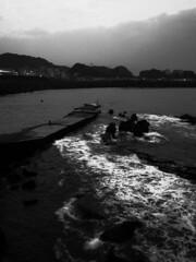 (abandoned24) Tags: blackandwhite fishing wave coastal  ricoh   grd moriyamadaido   grdiii