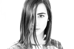 (evelavoiephotographies) Tags: winter love girl monochrome beautiful beauty look loving canon studio 50mm model eyes women montreal femme calm clothes fille vetements