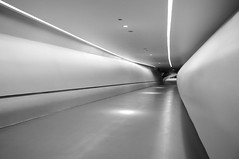 """Arturo (Teitu) con la fotografía """"Pabellon puente Zaragoza II (Fotos del concurso de la semana en Dzoom) Tags: lines bn abstracto lineas abstrac dzoom"""