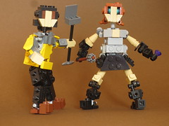 "Miroslav and Mimi (Deus ""Big D."" Otiosus) Tags: urban skeleton dragon lego time library dragons dungeon adventure dd exploration skeletal dungeons dnd gladiator urbex moc at"