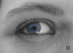 eye (simonesole@rocketmail.com) Tags: bw eye e azzurro bianco nero occhio