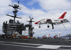 160423-N-MY901-167 (Photograph Curator) Tags: ocean george washington aircraft atlantic landing signal uss carrier officer lso qualifications cvn73