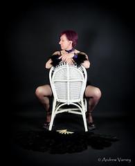Patsy On Chair (andrew.varney) Tags: portrait woman stockings studio costume nikon heels performer burlesque d5100