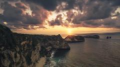 _DSC9422-1-wm (patlawhl) Tags: bali beach sunrise indonesia landscape seascapes cliffs 1635mm cloudforms sonyalpha patlaw cloudshover atuhbeach sonya7r nusaprenida