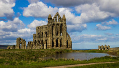 Whitby Abbey and Pond (Forsyth1987) Tags: abbey seaside ruins yorkshire dracula whitby whitbyabbey englishheritage bramstoker