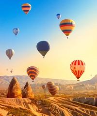Best Place To Travel 2016 (raiditem) Tags: travel blue sky mountain beautiful balloon hotairballoon fireballoon