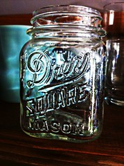 IMG_9133 (wrj95) Tags: old vintage square mason jar pint drey