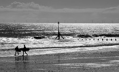Sparkling Sea, Hornsea (cdwpix) Tags: beach yorkshire rip surfing east curl hornsea