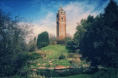 Cabot Tower (Nige H (Thanks for 6m views)) Tags: england sky cloud tower nature bristol landscape pond cabottower
