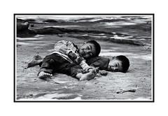 Smiles (isabelle.giral) Tags: portrait bw smile cambodge noir nb enfant sourire blanc jeux