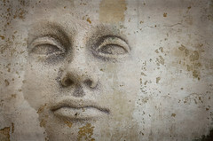 All in all, it's just another face in the wall (dave.fergy) Tags: people sculpture abstract art face statue composite architecture concrete statues bodypart buildingmaterial on1pics